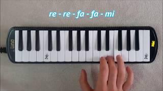Arkadaşım Eşek Melodika Notaları | Melodika Şarkıları