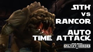 SWGoH 銀河の英雄 ヒロイックピット ランコア完走タイムアタック!! Rancor solo time attack : Star Wars Galaxy of Heroes