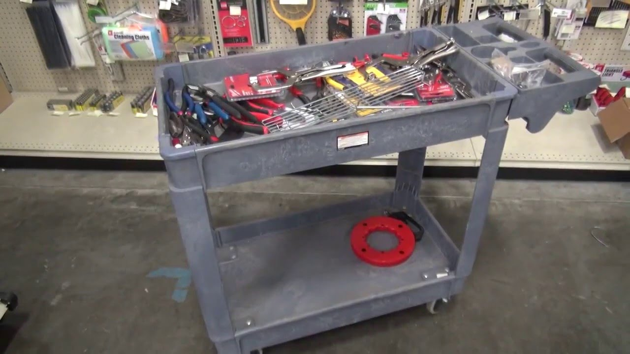 Harbor Freight Utility Cart >> Harbor Freight Storehouse Two Shelf Polypropylene Industrial Service Cart 61930