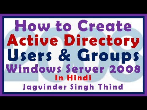 Windows Server 2008 Active Directory User And Group