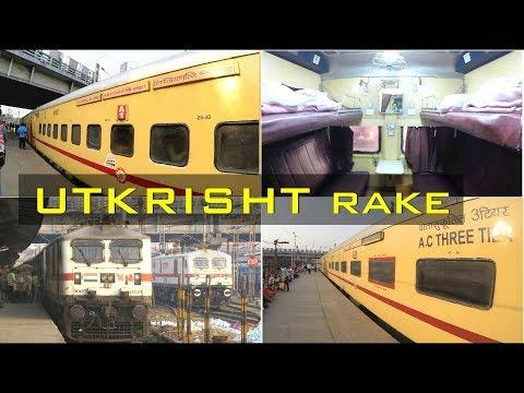 Modern UTKRISHT Rake : First AC, 2AC & 3AC interiors of HWH-TPJ SF Exp