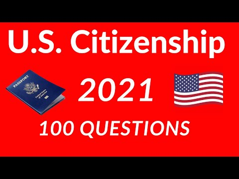2020 U.S. Citizenship Test 100 Questions single answer USCIS