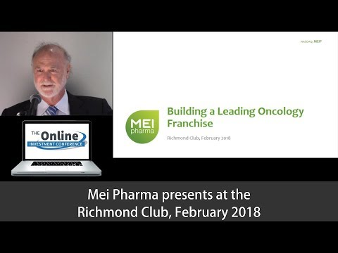 MEI Pharma Investor Presentation February 2018, Richmond Club