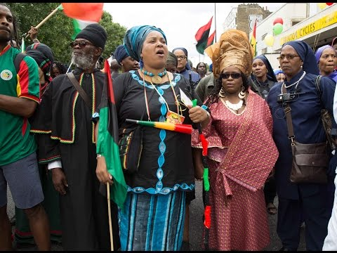 Reparations March 2016 Brixton to Parliament, African Emancipation Day Reparations March
