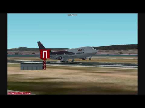 """""""World Travel Airlines"""" Boeing 747-400 Landing at SFO"""