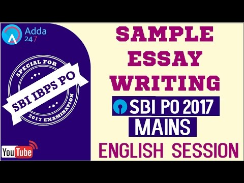 Sample Essay Writing For SBI PO MAINS | Ransomware | English | Online Coaching for SBI IBPS Bank PO