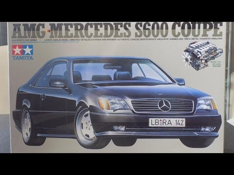 Unboxing Mercedes S600 Coupe Amg 1 24 Tamiya