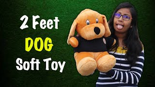 2 Feet Puppy Unboxing Dog Soft Toy Unboxing Birthday Gift for Kids Best Gift For Dog Lovers