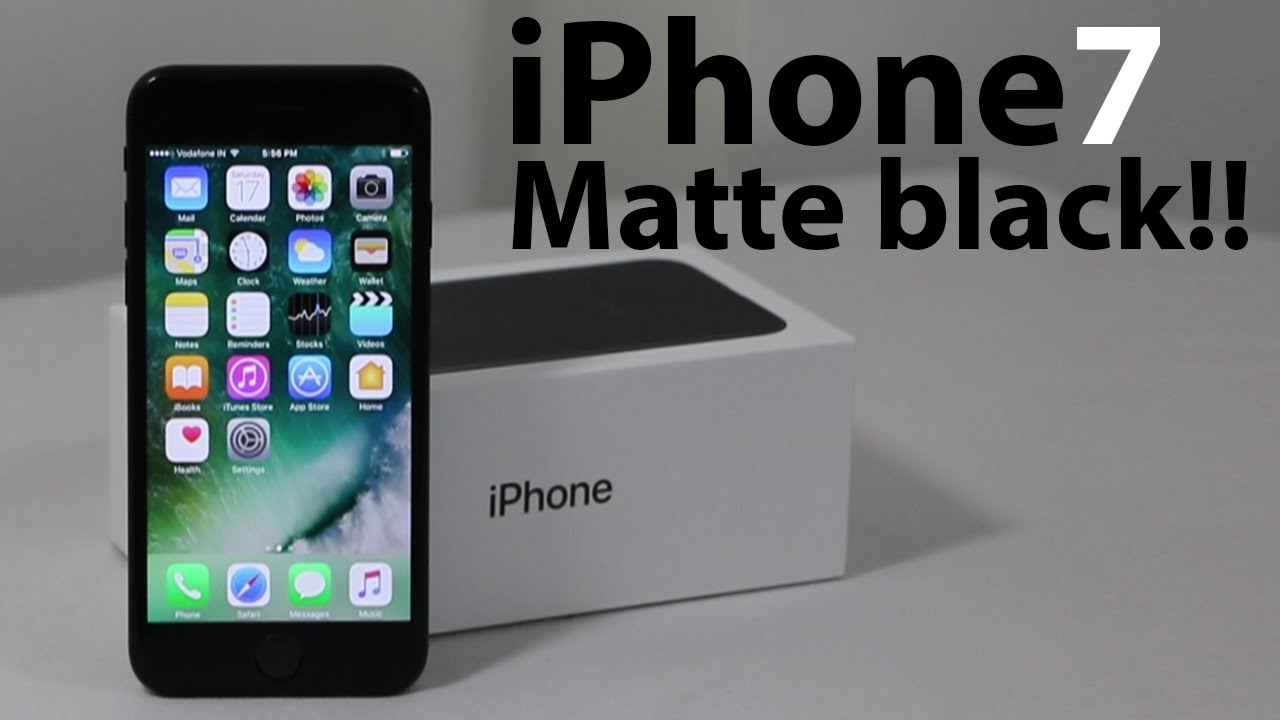 824ddc72755174 iPhone 7 Unboxing : Matte Black | In India - YouTube