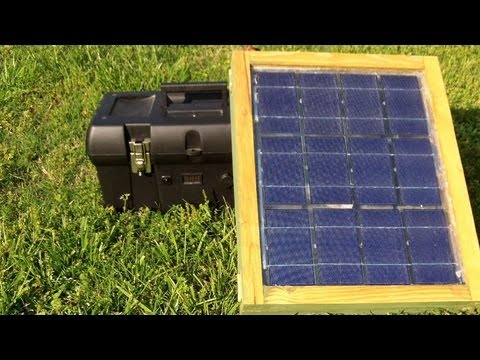 small portable solar for camping or apartments youtube. Black Bedroom Furniture Sets. Home Design Ideas