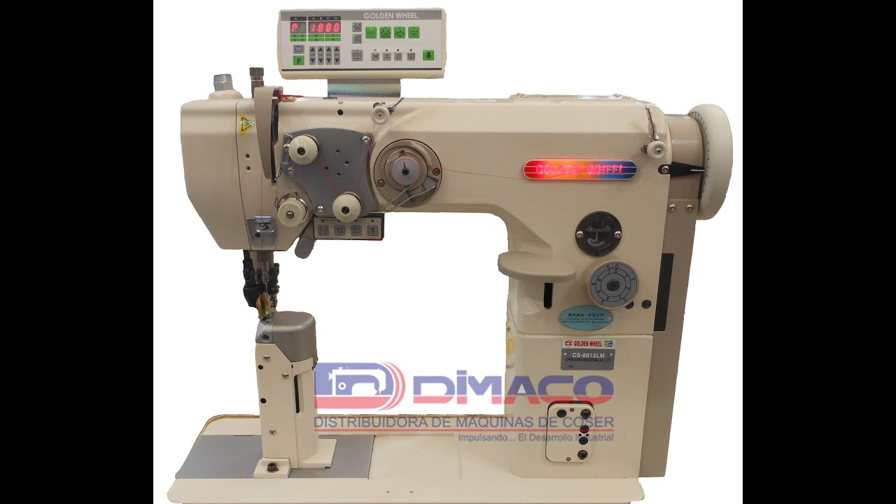 Maquina de coser, Poste 1 Aguja CS-8813LM Automática - YouTube