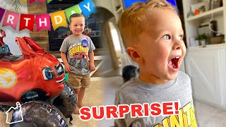 WE SURPRISED HIM!! 💥 (Finn's 4th Birthday Party!)