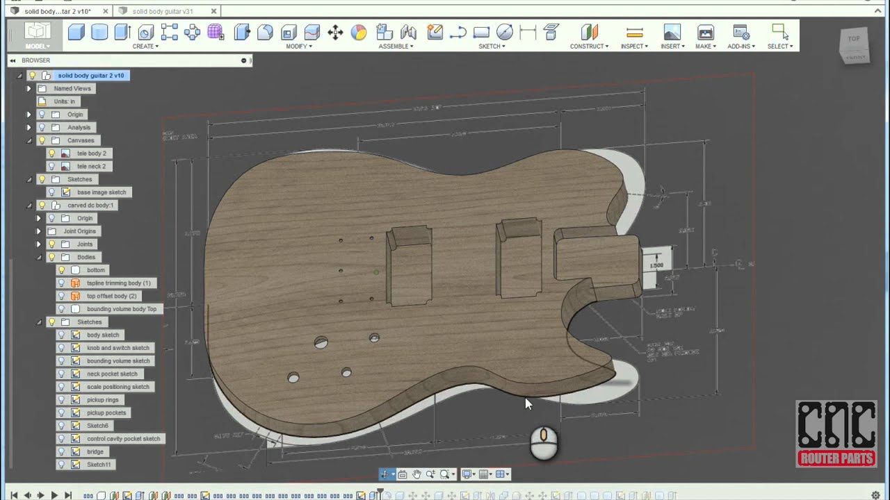 Parametric Electric Guitar (Customize & Make your own!) by