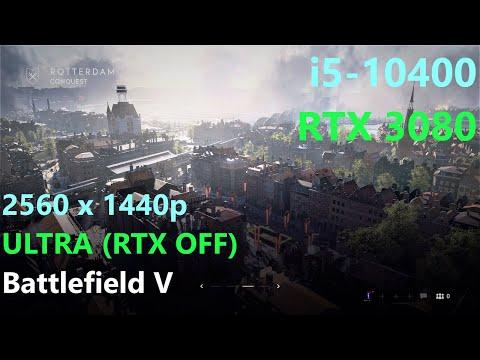 Battlefield V _ i5-10400 + RTX 3080 - 1440p ULTRA - RTX OFF - Rotterdam |