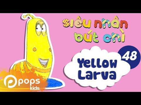 Hướng Dẫn Vẽ Con Sâu Larva – Siêu Nhân Bút Chì – Tập 48 – How To Draw Yellow Larva (from Larva)
