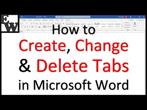 How to Create, Change, and Delete Tabs in Microsoft Word