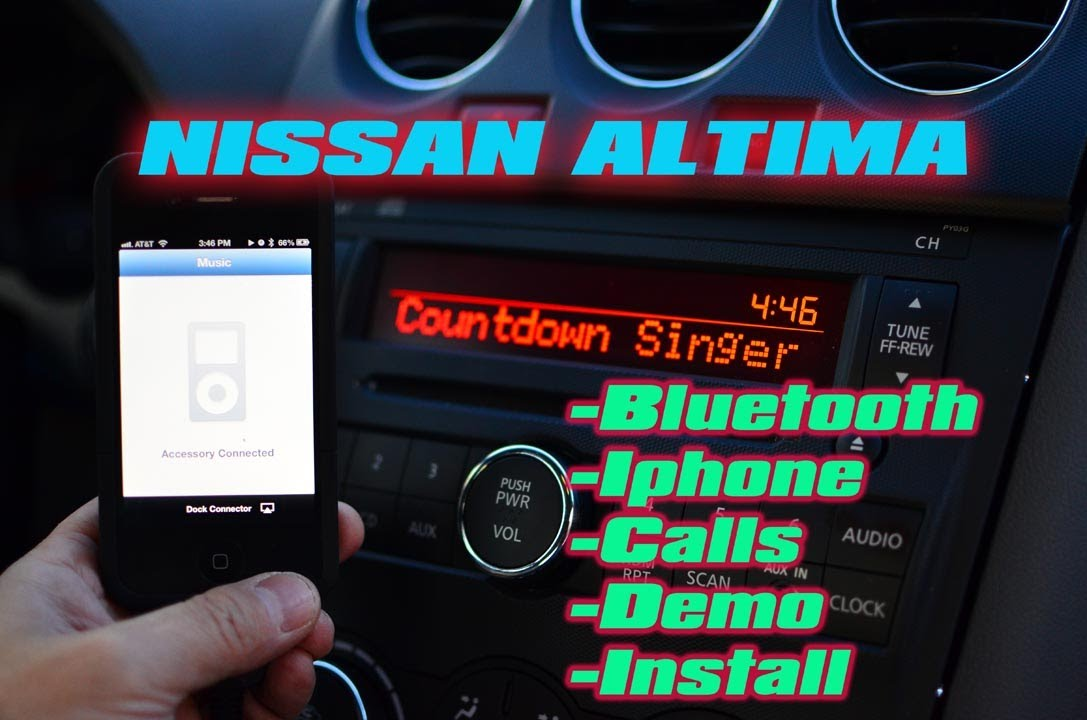 Nissan Altima Bluetooth Amp Ipod Iphone Installation And