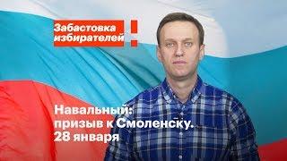 Смоленск: акция в поддержку забастовки избирателей 28 января в 14:00