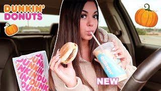 Dunkin' Donuts New Pumpkin Items Mukbang!