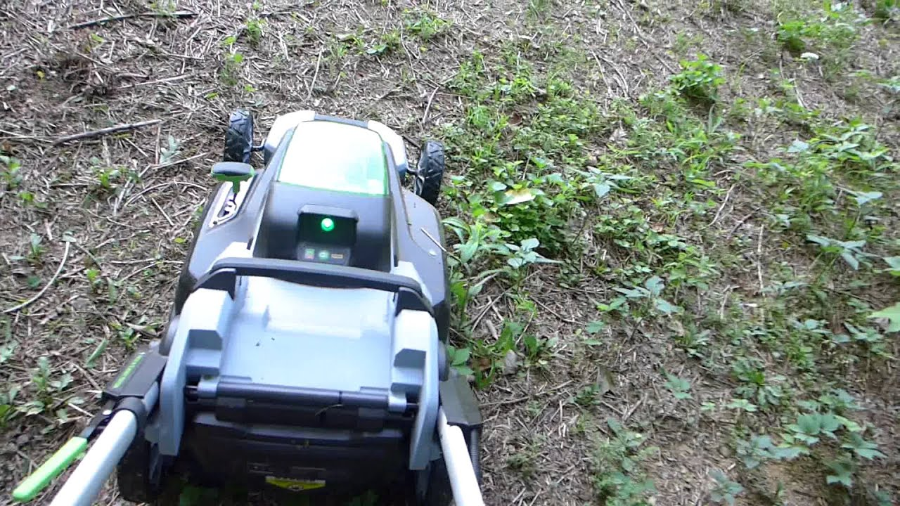 EGO 56 Volt Electric Mower vs Weedpatch