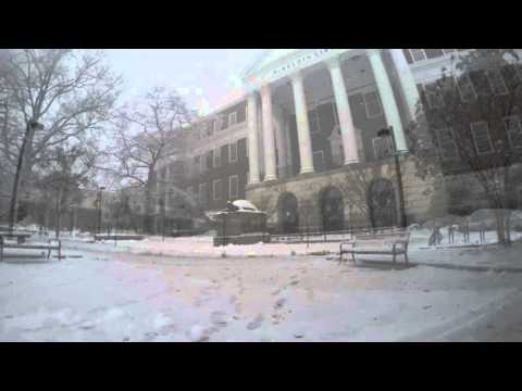University of Maryland on a snow day