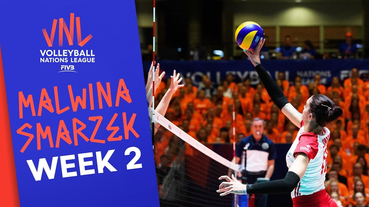 Malwina Smarzek beats her own record! | Player of Week 2! | Volleyball Nations League 2019