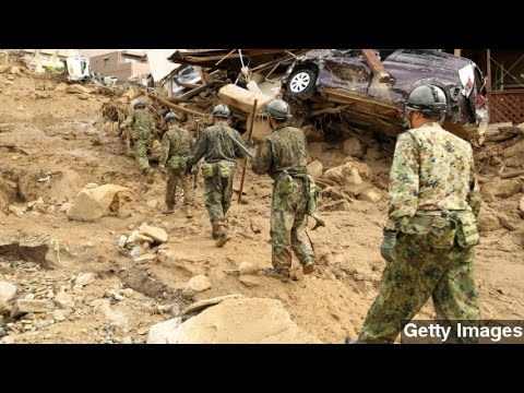 Search For Japan Mudslide Victims Continues