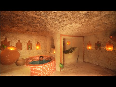 90 Day On Survival Building The Most Secret Temple Underground House With Bath Pool