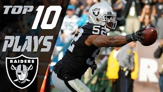 Raiders Top 10 Plays of the 2016 Season | NFL Highlights