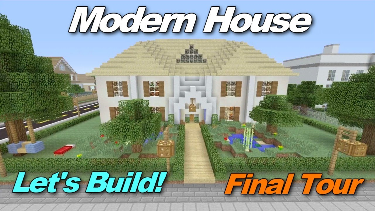 Minecraft xbox 360 modern house let 39 s build final tour for Modern house xbox minecraft