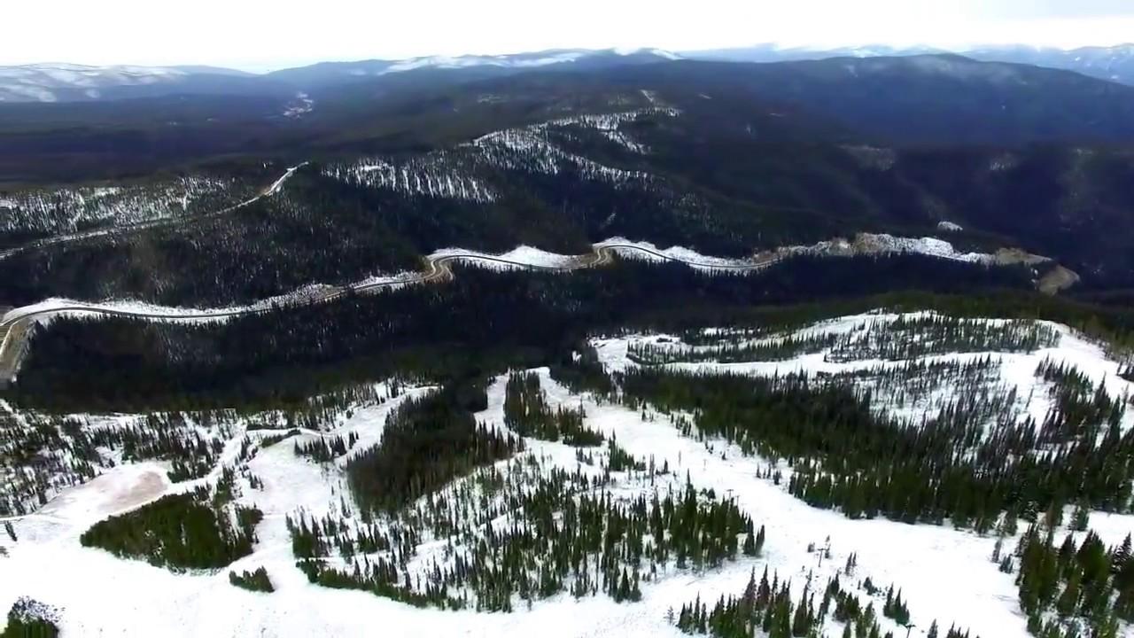 lost trail ski resort - drone flyover - youtube