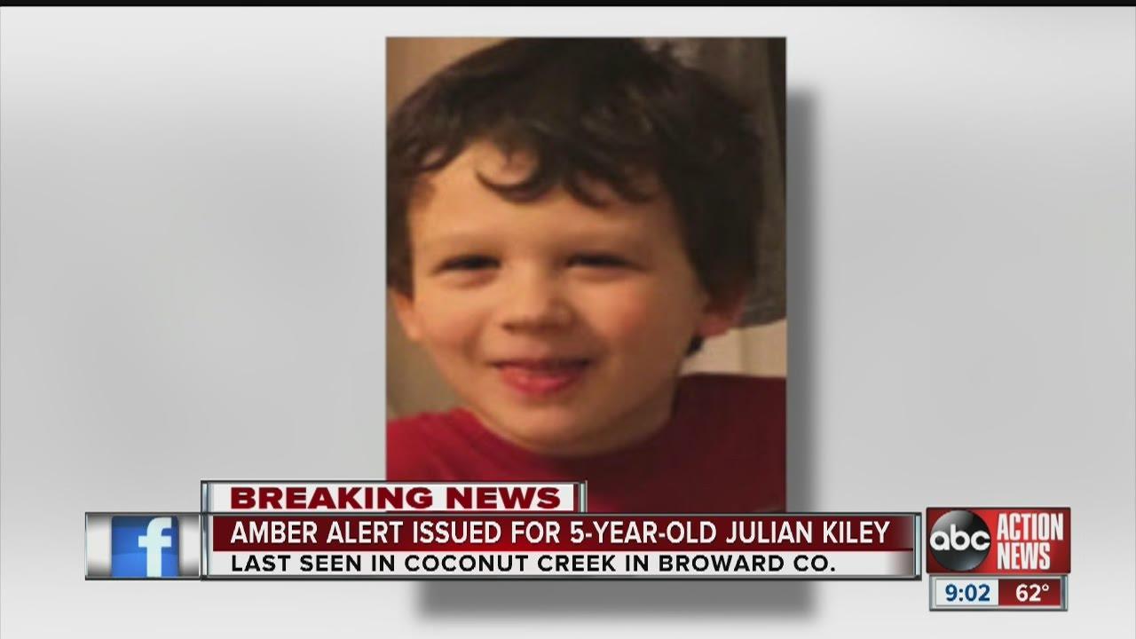 Active Amber Alert In Florida Julian Kiley 5 Years Old Youtube