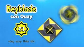 Quay phi tiêu ninja  l  Cách gấp con quay bằng giấy  l   Origami Spinning Top Ninja Star  l  V21