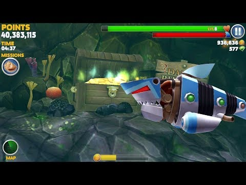 Hungry Shark Evolution Robo Shark Android Gameplay #35