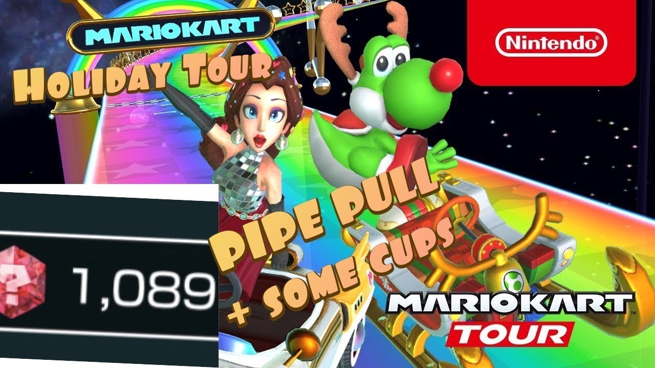 Mario Kart Tour Holiday 1200 Rubies Pipe Pull First Look Into A Few Cups