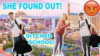 SKIPPING SCHOOL TO GO TO LAS VEGAS! *CAUGHT*