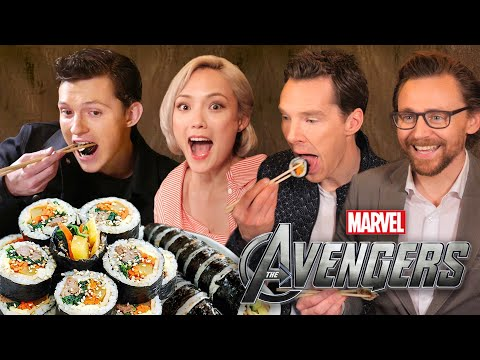 AVENGERS Actors React to Korean Food!!