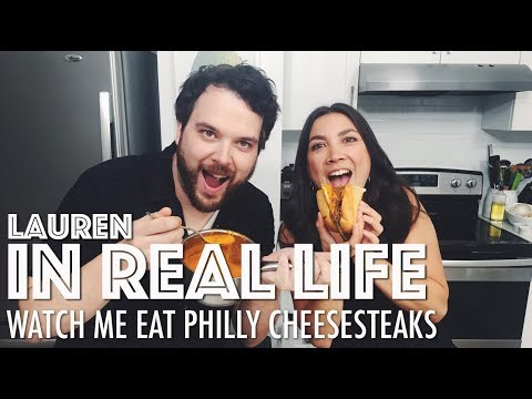 WATCH ME EAT PHILLY CHEESESTEAKS // MUKBANG // VEGAN ADVICE + MORE | Lauren In Real Life
