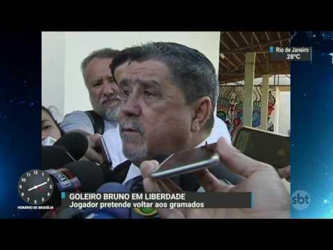 Goleiro Bruno é solto por ordem do Supremo Tribunal Federal - SBT Brasil (24/02/17)