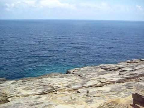 軍艦岩からサンニヌ台のパノラマ風景。