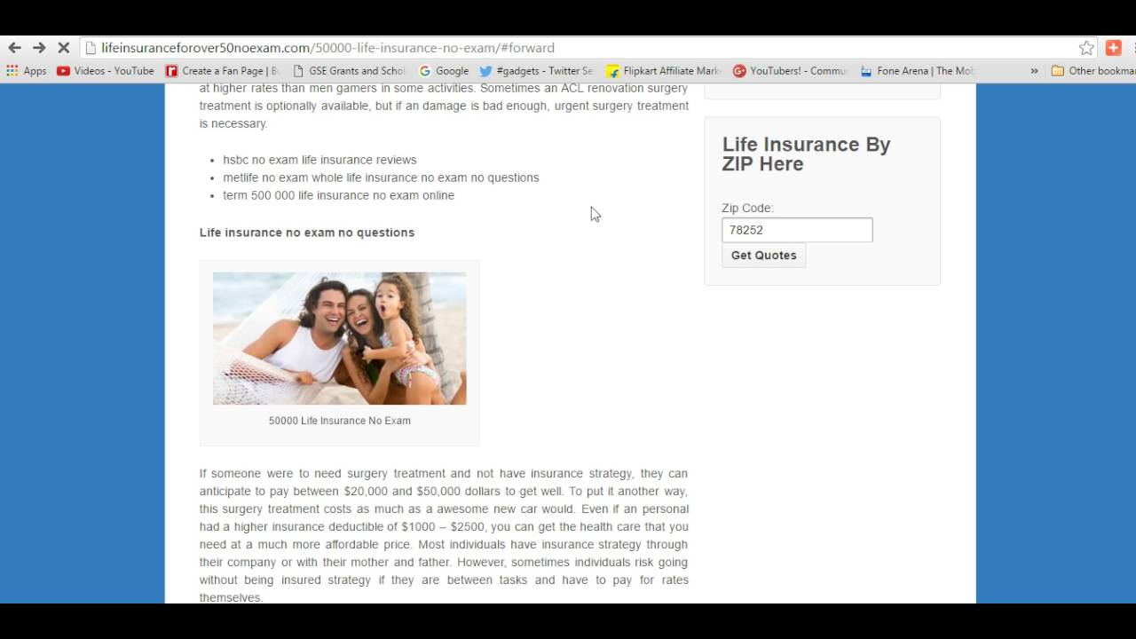 No Exam Life Insurance Quotes 50000 Life Insurance No Exam  Compare Online & Save Upto 40