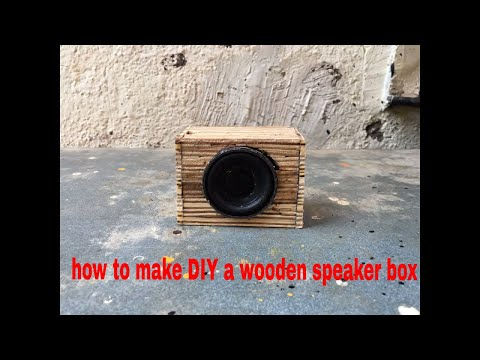 how to make DIY a wooden speaker box