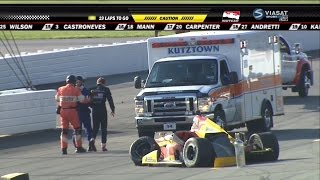 Verizon IndyCar 2015. Pocono. Justin Wilson fatal crash