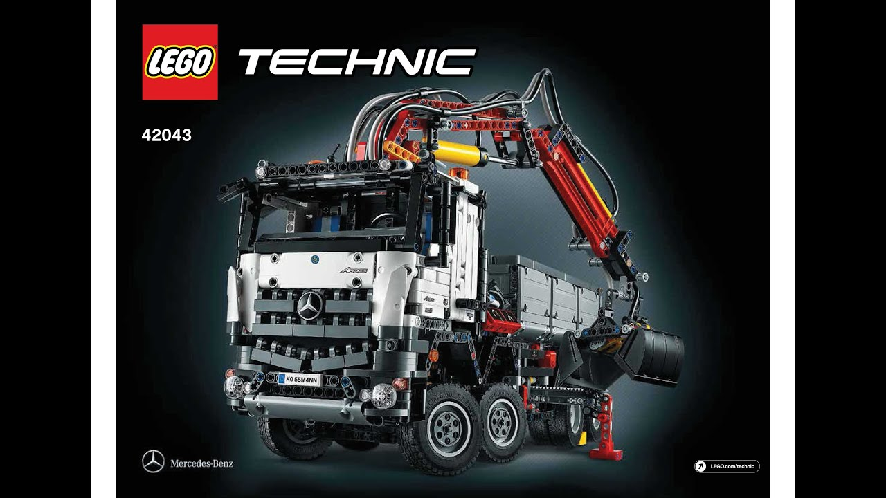 lego 42043 mercedes benz arocs 3245 instructions lego technic 2015 youtube. Black Bedroom Furniture Sets. Home Design Ideas