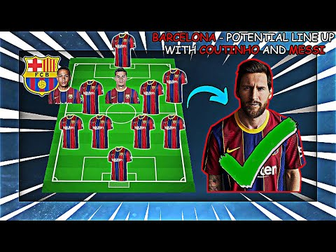 BARCELONA - Potential Line Up With Lionel Messi and With Coutinho