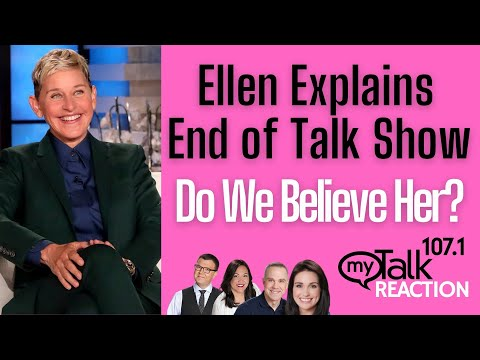 Ellen Explains the End of Talk Show - Do We Believe Her? #ellen