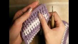2  Как связать классический шарф резинкой, обвязка края