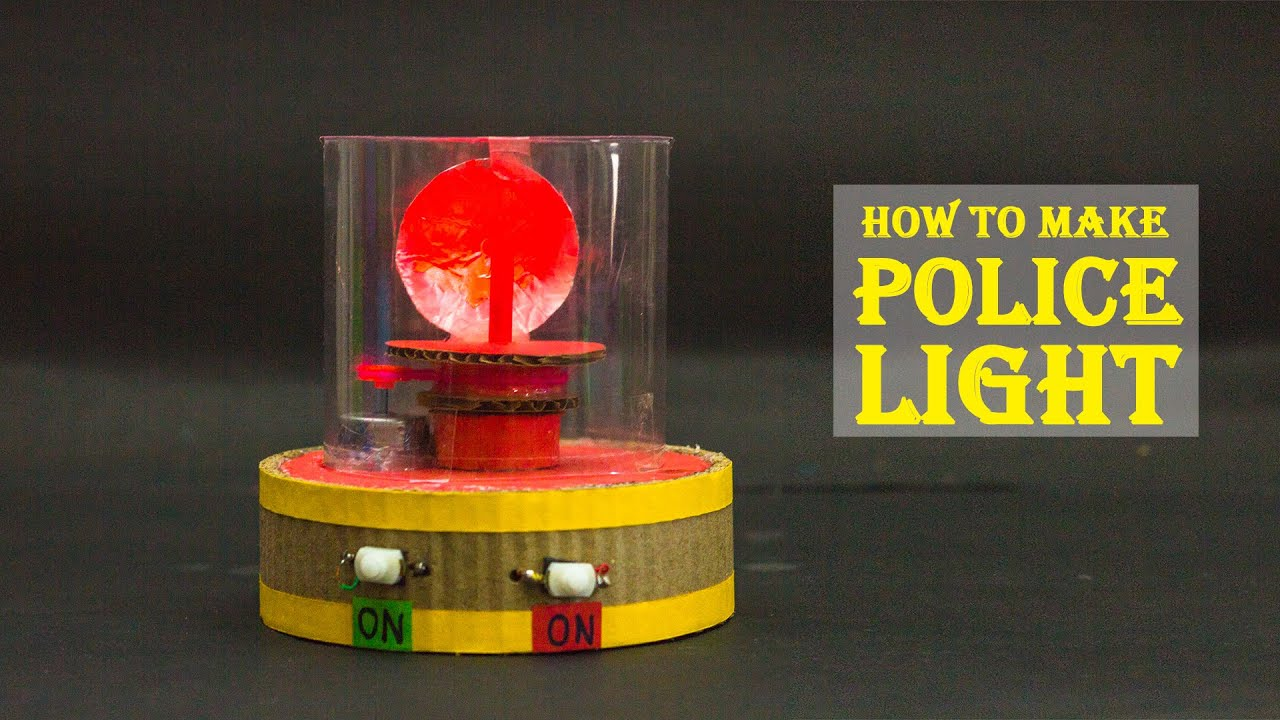 How To Make a Police Light | Science Projects