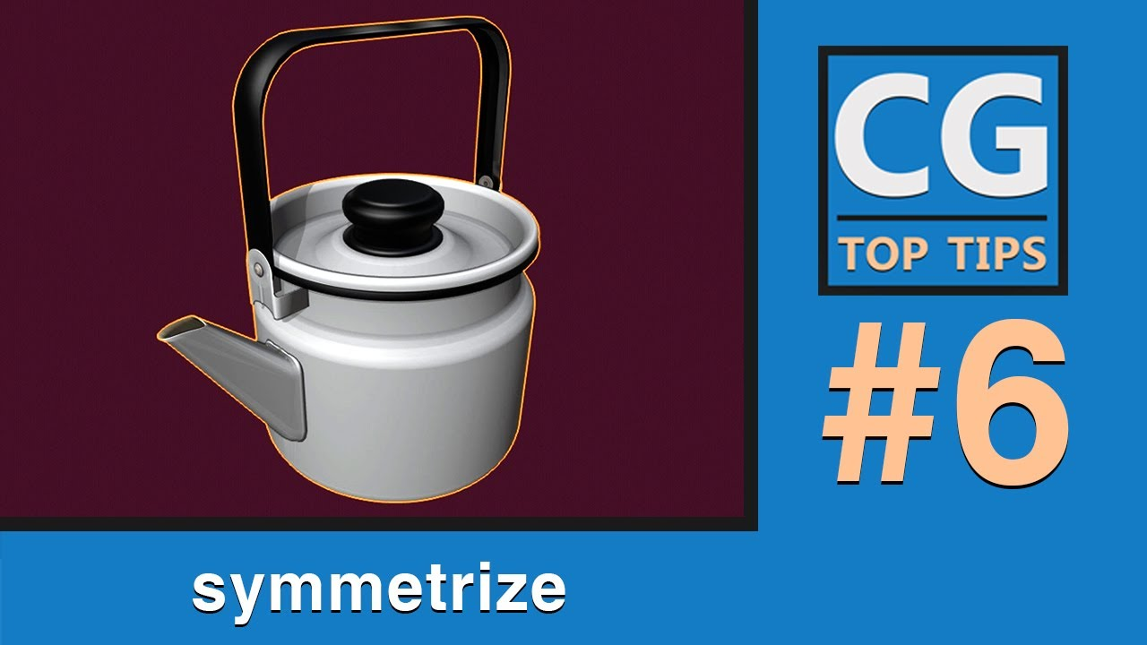 Symmetrize Tool in Blender 2.8x