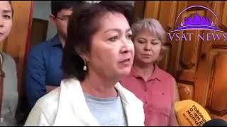 Видеообращение супруги Атамбаева